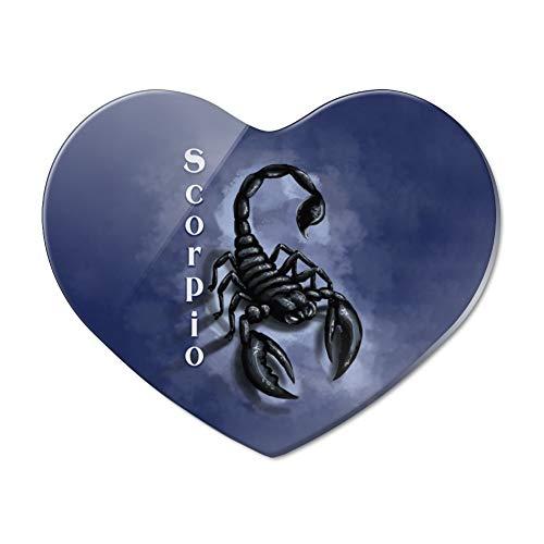 (Scorpio Zodiac Horoscope Heart Acrylic Fridge Refrigerator Magnet)