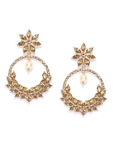 Zaveri Pearls Gold Tone Traditional Dangle & Pearl Drop Earring for Women-ZPFK7333