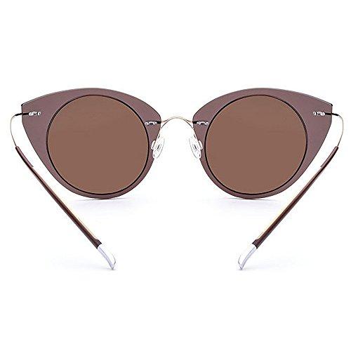 para UV al Gafas de Marco de gato Gu conducir sol nylon para Gafas Protección polarizadas Diseño de Peggy de vacaciones mujer ojos sol Lente sol de de Marrón Color libre Gafas TAC Rojo de Playa aire HqvgIUwAx