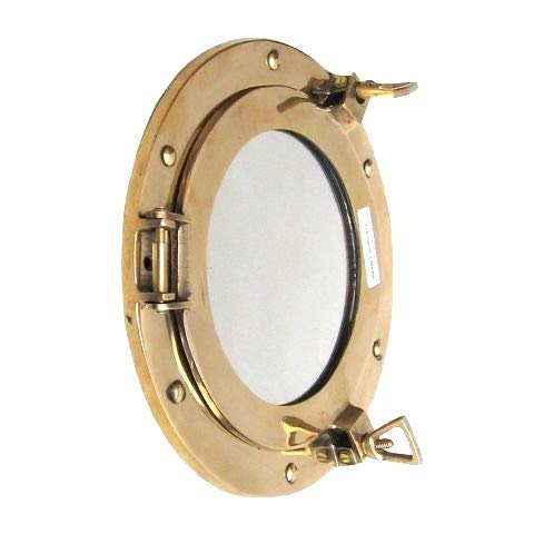 Ships Mirror - Coastal Space Designs New Solid Brass Porthole Mirror 9