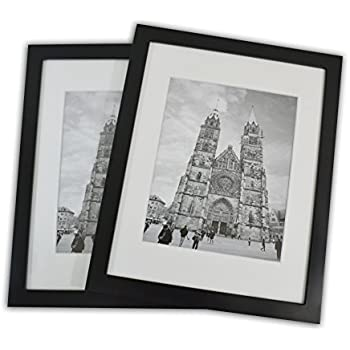 Amazon.com - 11x14 Photo Wood Frame with Mat (2 frames per box ...