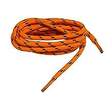International Safety Orange w/Black Kevlar Reinforced proTOUGH(tm) Heavy Duty Boot Laces Shoelaces