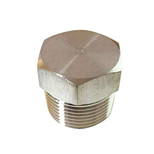 Metalwork Solid Stainless Steel 304 Pipe Fitting, Hex Head Plug (1-1/4