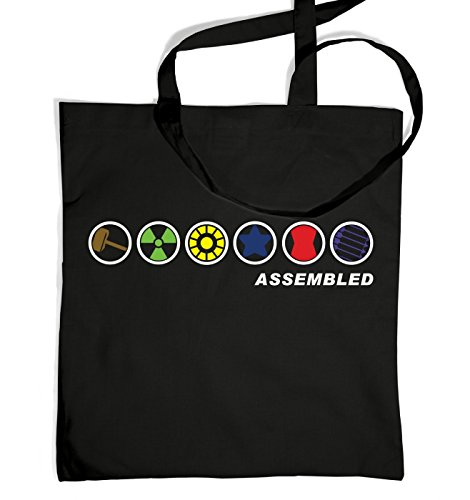 Film Quality Iron Man Costume (Assembled In A Row Tote Bag - Black One Size Tote Bag)