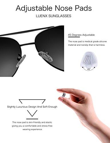 9 LUENX SoleilPolarisé Homme Étui UV Noir de Protection Lunettes Avec 400 vqvrg