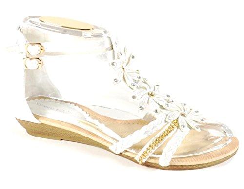 Sandaletten Wedges Keilabsatz Damen Blumen Sommer Keil King Riemchen Q1 Silber Shoes Of Sandalen n8Oqvaw6ga
