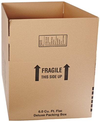 Aviditi 242418DPB Deluxe Packing Box, 24'' Length x 24'' Width x 18'' Height, Kraft (Pack of 10) by Aviditi