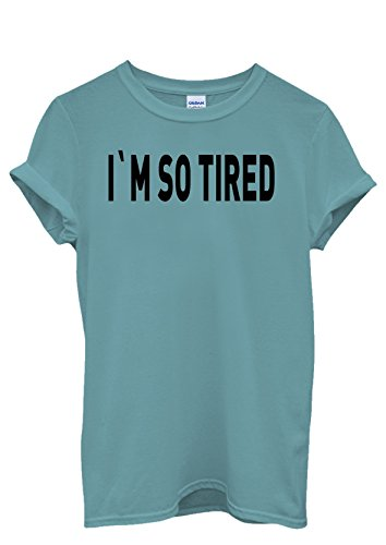 I Am So Tired Lazy Cool Men Women Unisex Top T Shirt-S (I Am So Tired compare prices)