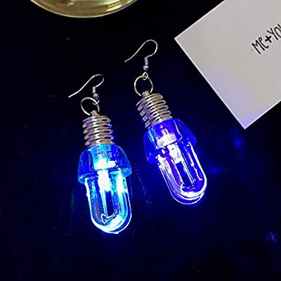 ARDUX LED Light Bulb Earrings - 1 Pairs Multicolor Bright Stylish Fashion Earrings, Personality Earrings Ear Hook Ear Studs Toy (U Shape): Toys & Games