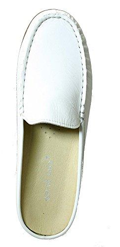 David Tate Lizzy Womens Flats Shoes White Soft Calf BlWF0KmH