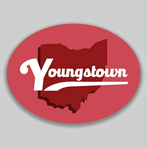 JB Print Youngstown Ohio Oval Vinyl City Town College University Vinyl Decal Sticker Car Waterproof Car Decal Bumper Sticker 5""