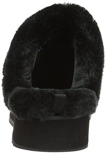 Skechers para Keepsakes Negro Mujer Zueco Alto Tejido Negro Nubby rqr4xa6