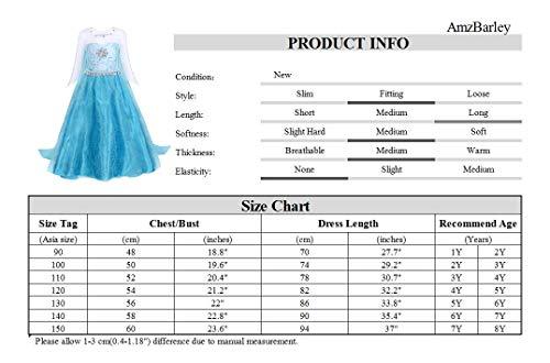 41E1GEqh8tL Vestido de princesa para niñas con adornos de pedrería brillante; Manga larga y cuello redondo diseñado, lado de la cremallera de cierre; Algodón, poliéster