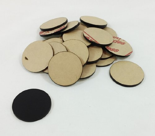 Marketing Holders Acrylic Discs DIY Craft Supplies Rounds Poker Chips Black Pack of 25 (Marketing Poker Chip)