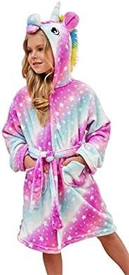 HulovoX Soft Unicorn Hooded Bathrobe, Unicorn Gifts for Girls