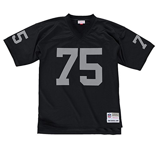 Oakland Raiders Mitchell   Ness 1988 Howie Long  75 Replica Throwback Jersey   Black  Xxl