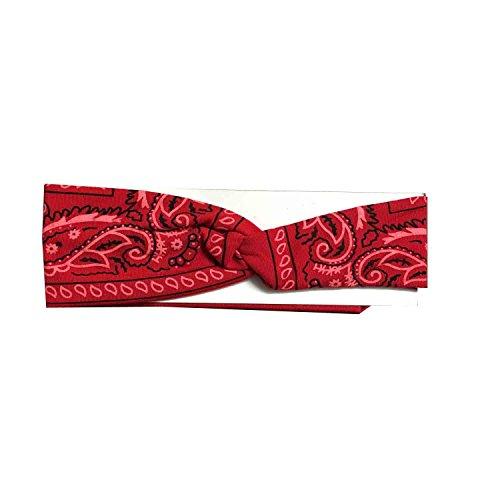 Bandana Print Headband Women's Yoga Hair Wrap Paisley Twisted 3