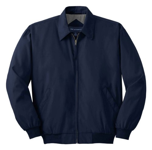 Port Authority Casual Microfiber Jacket>4XL Bright Navy/Solid Pewter Lining Adult Micro Poly Pullover Jacket