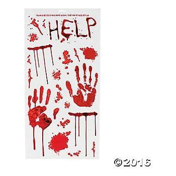 Amazon Com Bloody Zombie Hand Print Right Hand 5 5