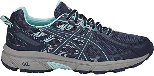 ASICS Women's Gel-Venture 6 Running-Shoes, Ink Blue/Aruba Blue/Mid Grey 7 M US