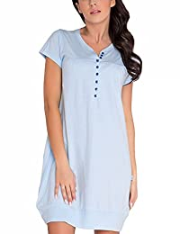 Dn-nightwear TM.5009 subtle classic maternity/nursing nightdress - made in EU