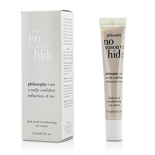 Philosophy No Reason To Hide Dark Circle Transforming Eye Cream, 0.4 Ounce (Philosophy No Reason To Hide Eye Cream)