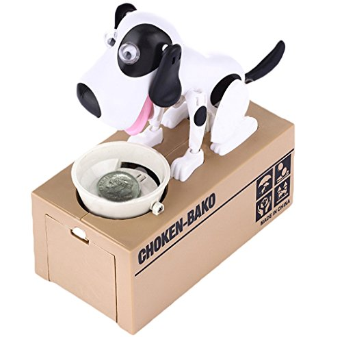 Just us®Choken Bako Robotic Dog Bank Doggy Coin Bank Canine Money (Puppy Coin Bank)