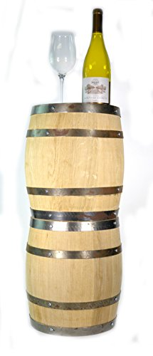 Carved Barrel (HAND CARVED BEAUTIFUL WOODEN OAK WINE BARREL END TABLE New Never Used)