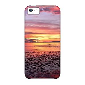 Awesome Sunset Flip Case With Fashion Design For Iphone 5c