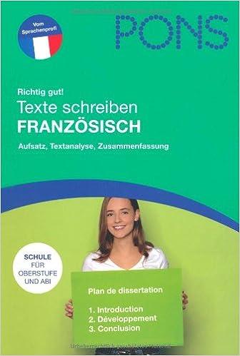 Texte Schreiben Französisch Aufsatz Textanalyse