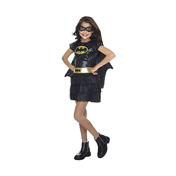 Dc Comic Batgirl Tutu Dress Movie Theme Child Outfit Halloween Costume