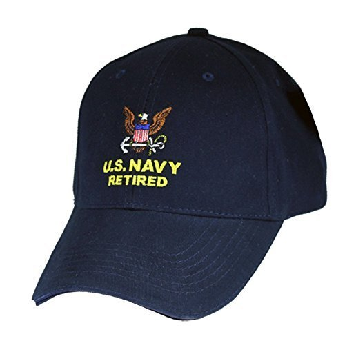 rect Embroidered Cap (Navy Retired Ball Cap)