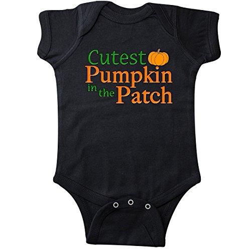 inktastic - Cutest Pumpkin in The Patch Infant Creeper Newborn Black 11774 -