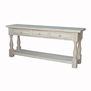 International concepts tuscan console table for 70 inch console table