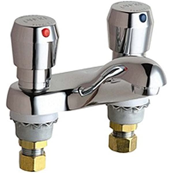 CHICAGO FAUCETS 802-317ABCP Low Arc,Chrome,Chicago Faucets,802