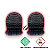 VaygWay 12V Heated Car Seat Cushion- 2pk with 1 Integrated Plug-...