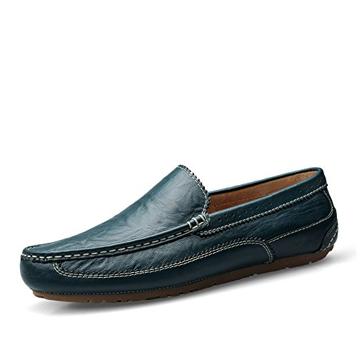 uomo in casual Leggero Ofgcfbvxd 44 da Hollow guida Hollow Brown mocassino On Dimensione per Color da di Vamp pelle equitazione vera in Scarpe Blue pelle Wider Slip Mocassini EU Fitting Vamp qdEqRrxwY