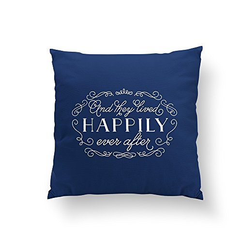 Christ-EZ And They Lived Happily Ever After Accent Pillow Pillowcase Pillow Case Cushion Cover Home Sofa Decorative One-Side 18x18 Inch