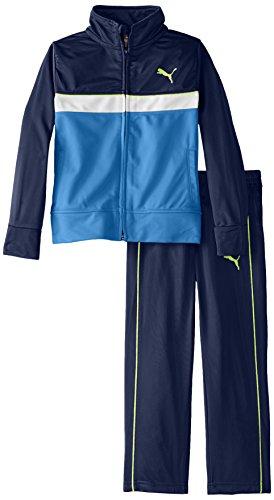PUMA Little Boys' Tricot Jacket and Pant Set , Sky Blue, 4 (Boys Puma Tracksuit)