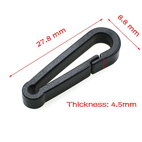 10pcs/pack Gloves Hook Plastic Black Buckles Snap Hook With O-Ring Used For Shower - O Ring Curtain