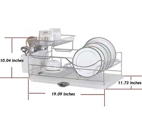 Sakura Two Tiers Compact Dish Rack Kitchenware Dish