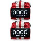 Munhequeira Crossfit Pood Wrist Wraps HD - Vermelho e Branco