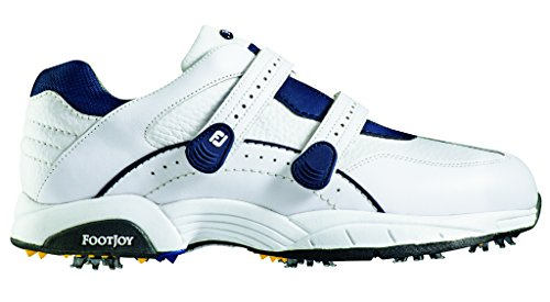 FootJoy Hydrolite Golf Shoes CLOSEOUT White/Navy Medium 9.5 (Golf Shoes Closeout)