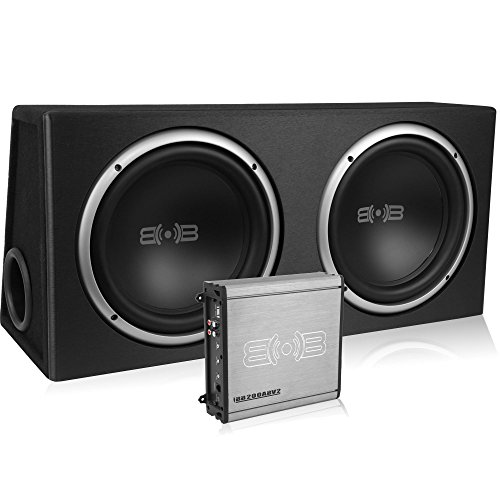 Belva Complete Bass Package with Dual Ported Sub Enclosure, Monoblock Amplifier and Amp Kit 4