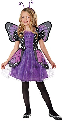 SEASONS DIRECT Halloween Costumes Girl's Brilliant Butterfly Purple Costume with Wings, Dress, Headband (8-10 US)