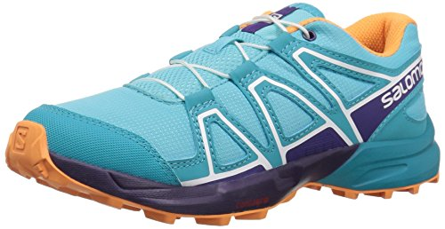 Salomon Unisex-Kids Speedcross J Trail Running Shoe, Blue Curacao, 5 M US Big Kid