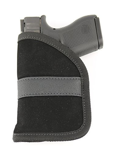 (ComfortTac Ultimate Pocket Holster | Ultra Thin for Comfortable Concealed Carry | Fits Pistols and Revolvers from Glock Ruger Taurus Smith and Wesson Kimber Beretta and More (Compact))