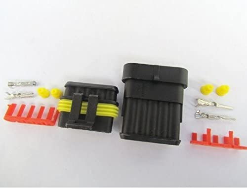CNKF 10 Sets AMP SUPERSEAL 1.5 SERIES 5 pin waterproof male and female plug auto connector 282089-1//282107-1