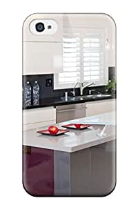 Hot New Modern Italian Kitchen Design With Glass Countertop Island Case Cover For Iphone 4/4s With Perfect Design