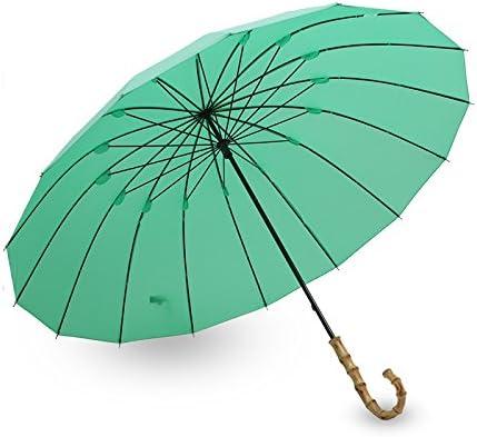 ZGMMM Paraguas Mujeres Hombres Vidrio Estilo Japonés Parasol Verde ...